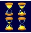 set cartoon glossy hourglass vector image vector image