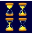 Set of Cartoon glossy hourglass vector image vector image