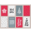 set of colorful year cards vector image vector image