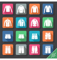 Set with mens Sportswear icons vector image vector image
