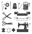 Sewing elements vector image vector image