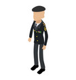 soldier veteran icon isometric 3d style vector image vector image