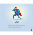 super hero origami style icon vector image vector image