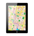 tablet pc gps vector image