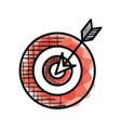 target and arrow success vector image