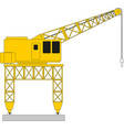 tower construction crane isolated vector image vector image