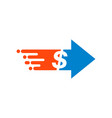 transfer money icon in flat style dollar on white vector image