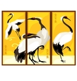 triptych in eastern style with bird vector image vector image