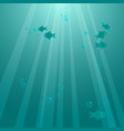 underwater background with fishes vector image