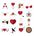Valentine icon set vector image vector image