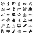 victory icons set simple style vector image vector image
