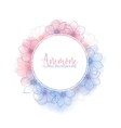 Watercolor wreath with flower anemones Rose Quartz vector image vector image