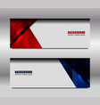 web red blue banner vector image