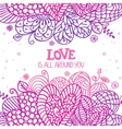 love is around vector image