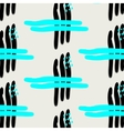 Hand painted brush strokes in neon blue and black vector image