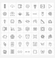 49 universal line icon pixel perfect symbols