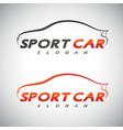 abstract car sport racing logo template vector image vector image
