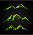 abstract mountain vector image vector image