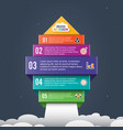 arrow start up infographic options banner vector image vector image
