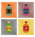 assembly flat shading style icons potion in bottle vector image vector image