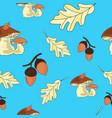 autumn oak seamless pattern vector image vector image