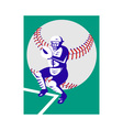 baseball player catcher vector image vector image