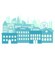 big city metropolis high-rise buildings blue vector image