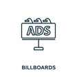 billboards icon symbol creative sign from vector image vector image
