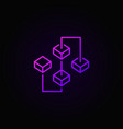 Blockchain purple bright icon or sign in vector image