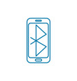 bluetooth technology linear icon concept vector image
