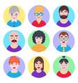 boys avatars in flat style vector image