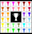 champions cup sign felt-pen 33 colorful vector image vector image