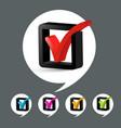 check mark icons set vector image vector image