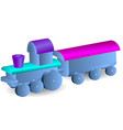 childrens locomotive with wagon vector image vector image