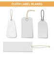 Clothes Label Tags Set vector image vector image