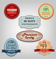collection of different colored retro vintage vector image vector image
