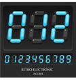 collection retro electronic figures numbers vector image