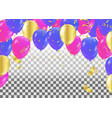 colorful balloons party banner with balloons vector image vector image