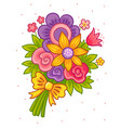 colorful cartoon bouquet flowers for a princess vector image vector image