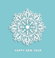 cut out white snowflake on a blue background vector image vector image