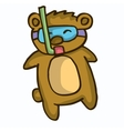 Cute cartoon beaver diving vector image