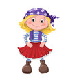 cute girl children pirates vector image vector image