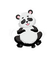 cute happy baby panda bear smiling lovely animal vector image
