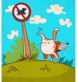 Dog wets the sign vector image