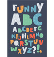english alphabet colorful letters vector image