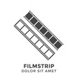 Filmstrip graphic design template isolated