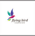 flying bird logo design creative color sign vector image vector image