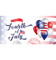 fourth july independence day usa vector image