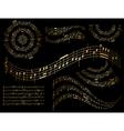gold musical design elements - set vector image