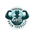 gym club logo or label sports vector image